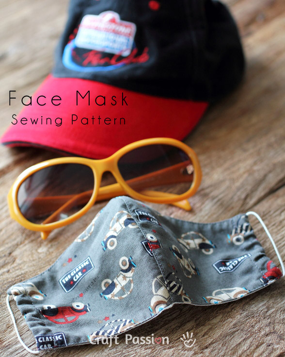 Easy to follow tutorial on how to a sew center seam, includes a face mask sewing pattern. #diyfabricfacemask #howtosewmedicalmask #easysurgicalmasktutorial