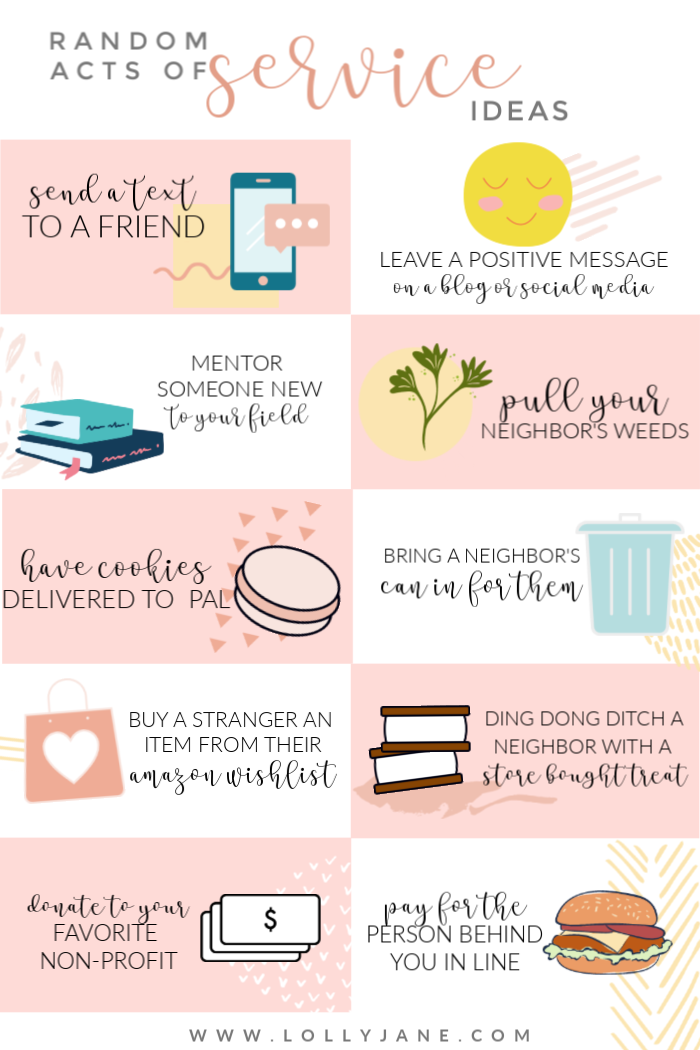 Looking to serve others? We've got 10 random acts of kindness service ideas, all so easy to do! #justserve #roak #randomactsofkindness #payitforwardday #sharekindness