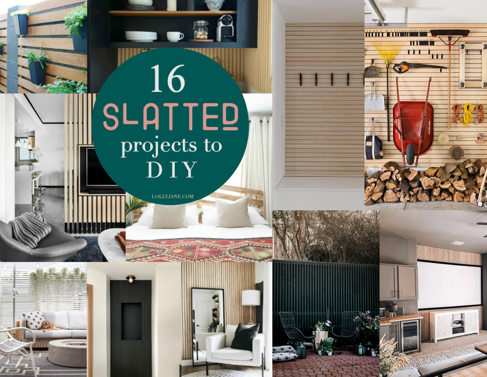 16 Slat Walls that will make you want to bust out the tools right now! Check out these trendy, modern slat wall decorating ideas that you can complete in a weekend! #slatwall #diyslatwall #slatwallideas #slatwalldecorating #diyslatwallaccentwall