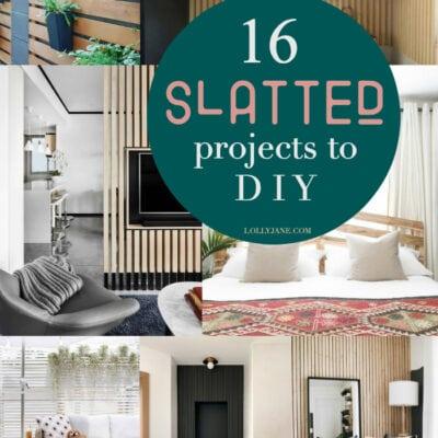 DIY Slat Walls Ideas to Make This Weekend!