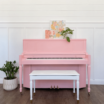 Our Pink Piano! | How to Paint a Piano