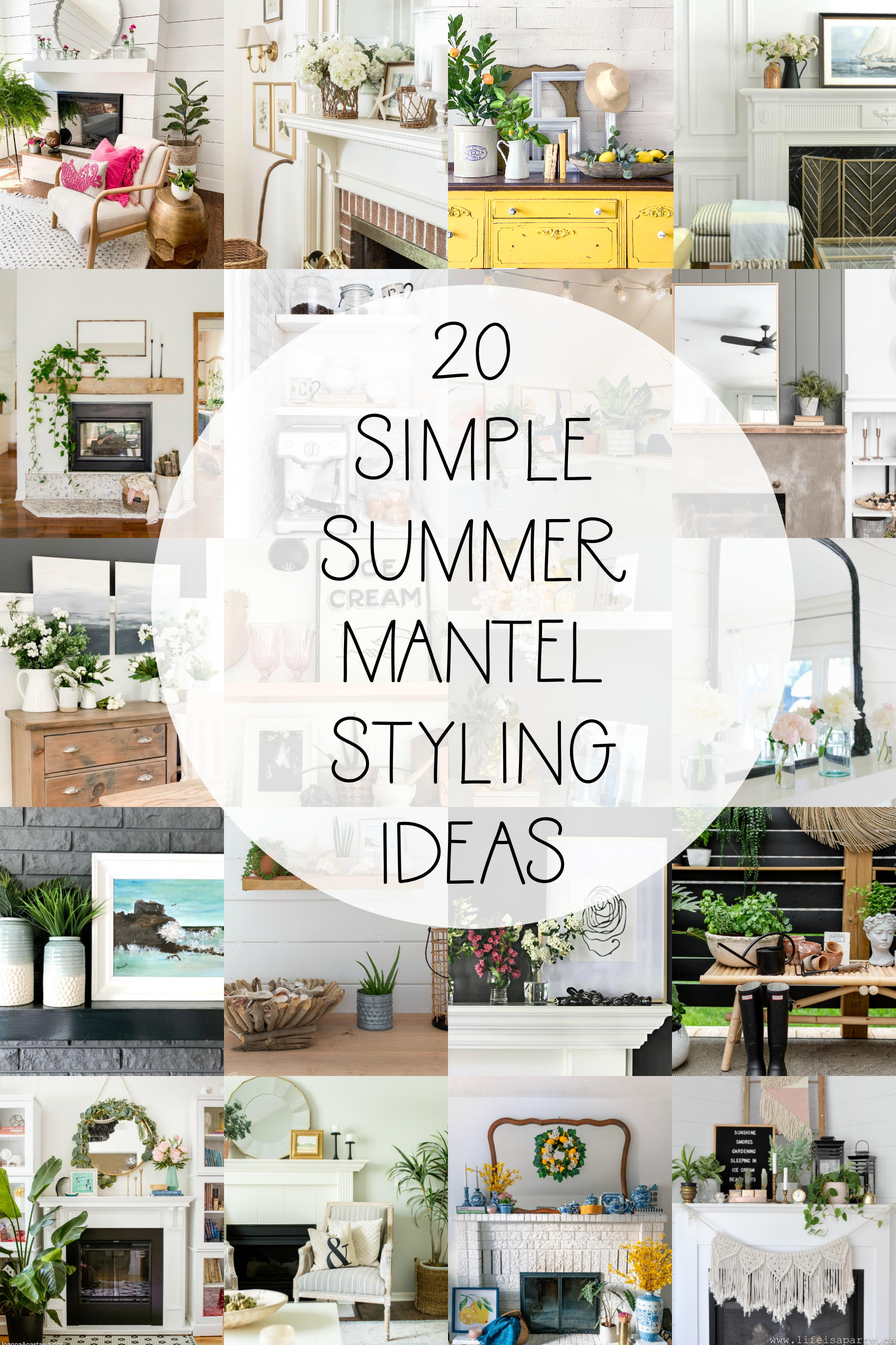 15 SIMPLE Ways to Style YOUR Mantel or Entryway for SUMMER! 🌞 #summerdecoration #summerdecor #homedecor #summertime