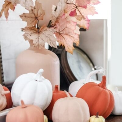 DIY Baking Powder Painted Pumpkins