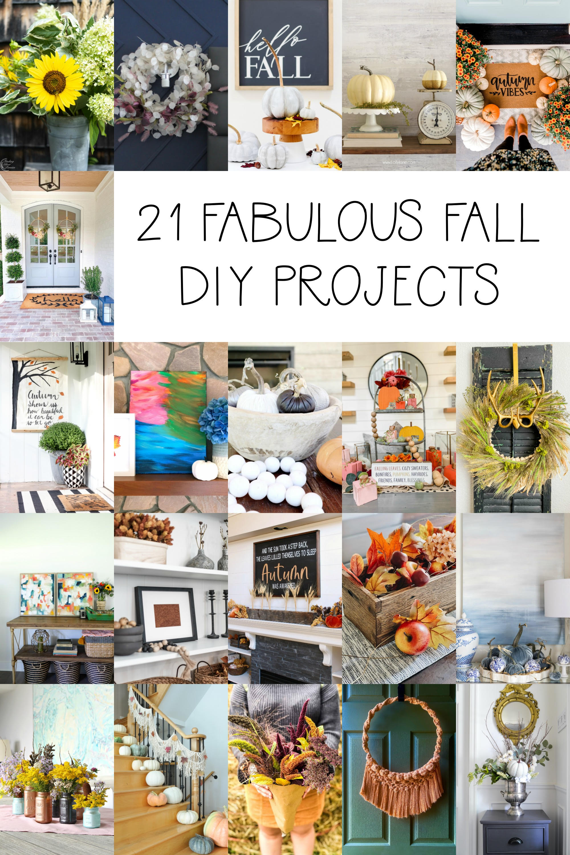 25 Fall Crafts to DIY in 2020! Perfect for crafters of ANY level! #falldecor #falldecoration #fallcraft #fallcrafts