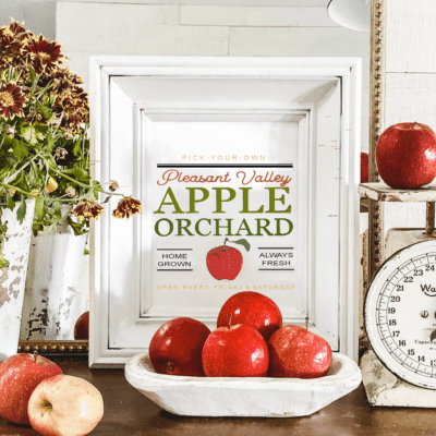 Free Fall Apples Printable Art