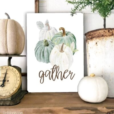 Free Farmhouse Style Fall Printables