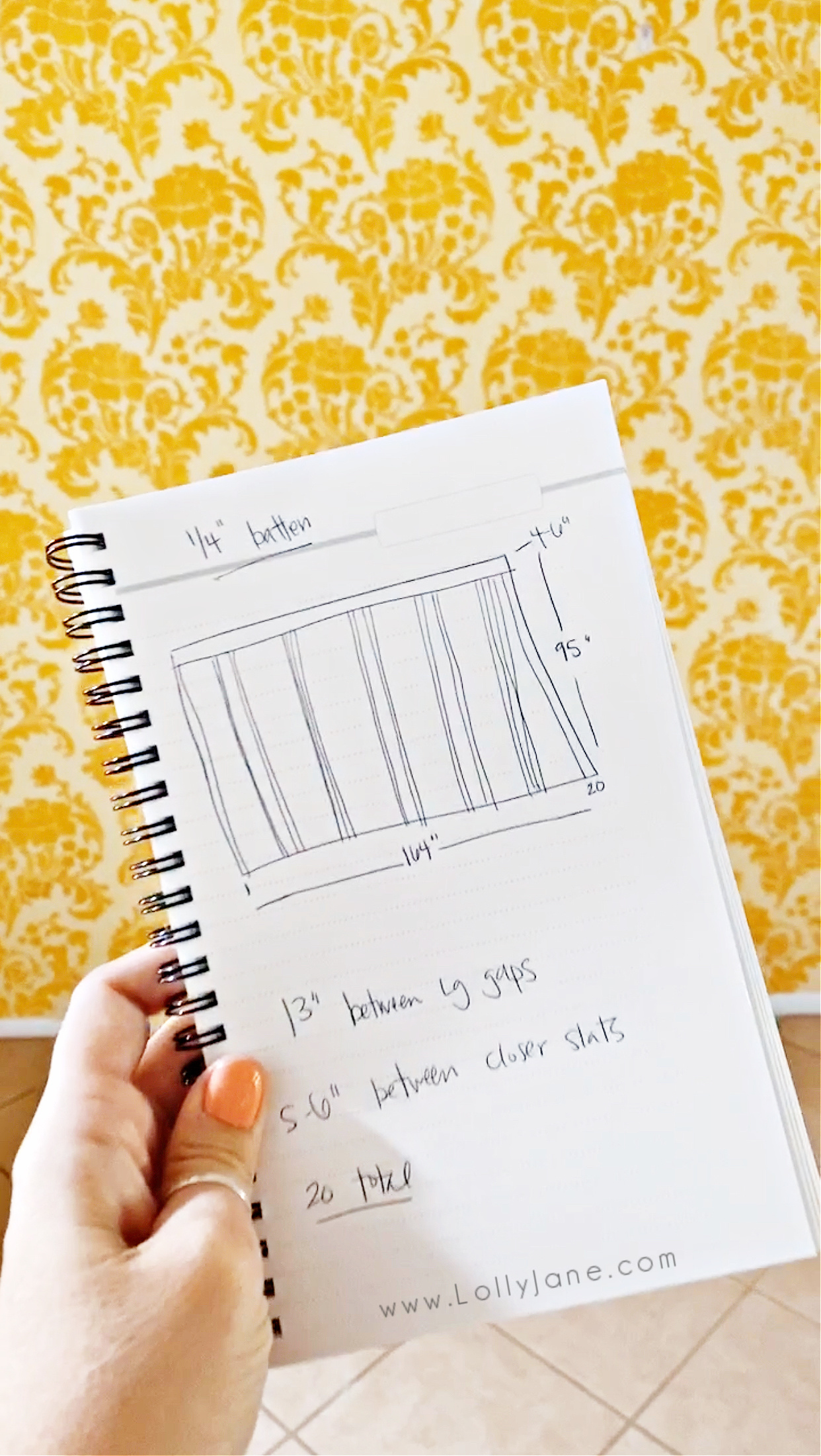 How to measure double batten wall treatment. Make this trendy wall treatment to create a cozy boho farmhouse style dining room. #bohostylediningroom #navydiningroom #doublebattenwalltreatment #doublebatten #howtomeasuredoublebatten