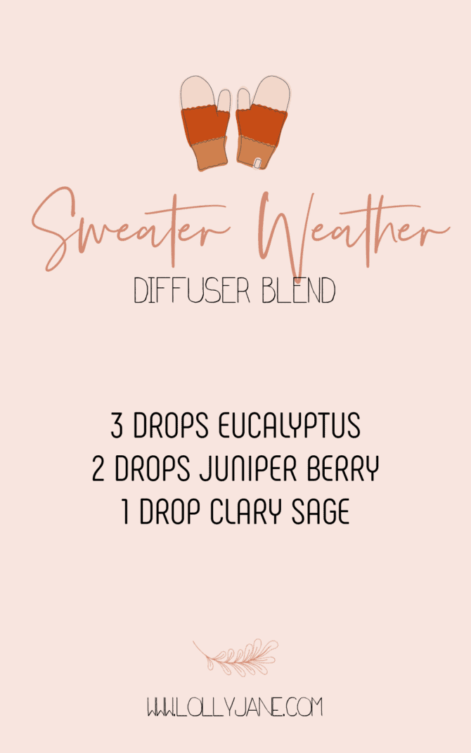 Mmm, this Sweater Weather fall diffuser blend recipe is so yummy! It's nice and light with the perfect cozy scent that will envelope your home and provide health benefits at the same time. #sweaterweatherblend #essentialoilfallblend #doterrafallblend #doterrafalldiffuserblend #diffuserblendsforfall #falldiffuserblends #falldiffuserblendrecipes #sweaterweatheressentialoils #doterra #diyfallblend