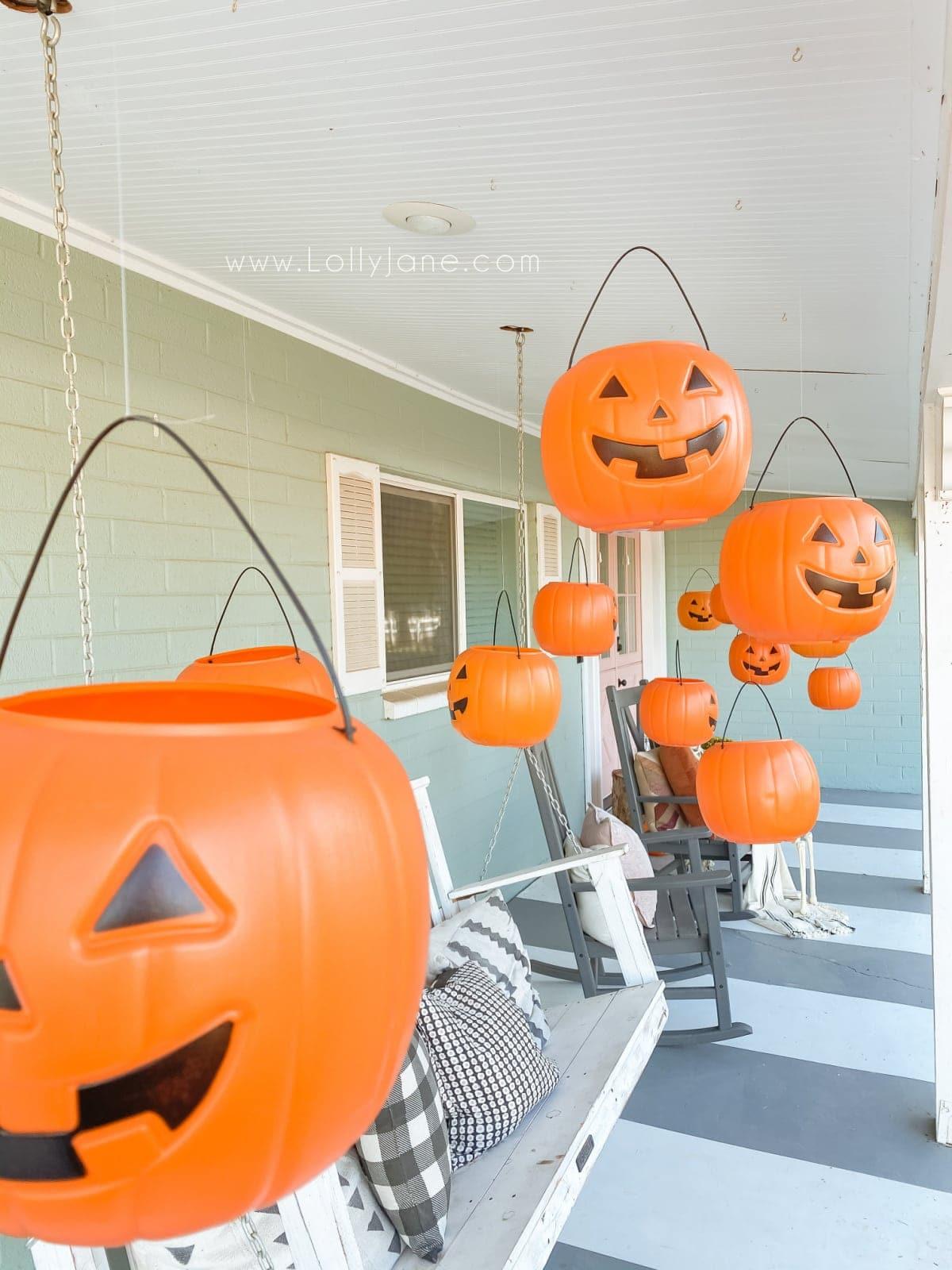 Halloween Hanging Pumpkins Porch Decor Lolly Jane