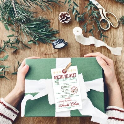 Free Printable Christmas Gift Tags From Santa Claus