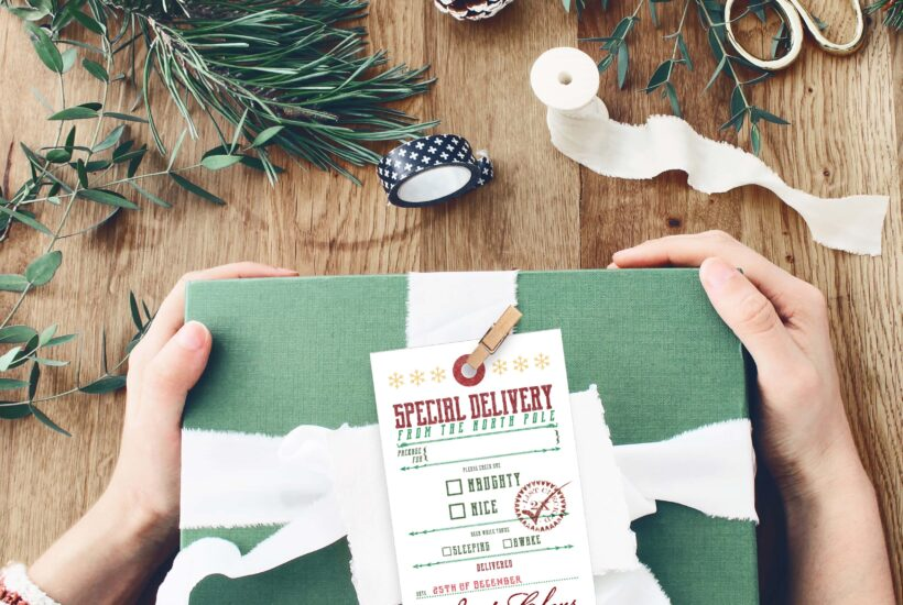 FREE Printable Gift Tags... FROM SANTA! ;) Simply print then write in the name then tie onto a gift! #freeprintable #christmaspresent #christmasgifttag #christmasgifttags #printablegifttags #freeprintable #christmastags