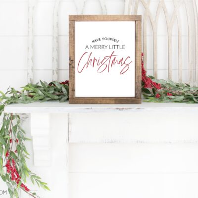 Free Merry Little Christmas Printable Art