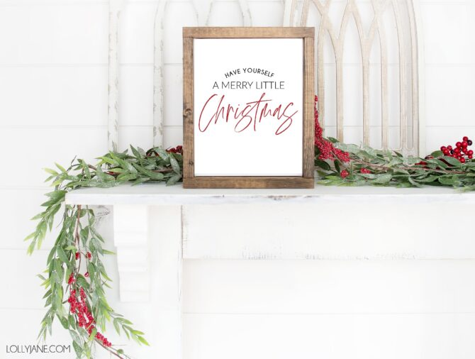 FREE Christmas printables to matchh ANY style of decor! Just print and frame for INSTANT Christmas cheer!