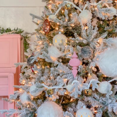Pink White Christmas Tree