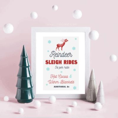 Free Christmas Reindeer Art