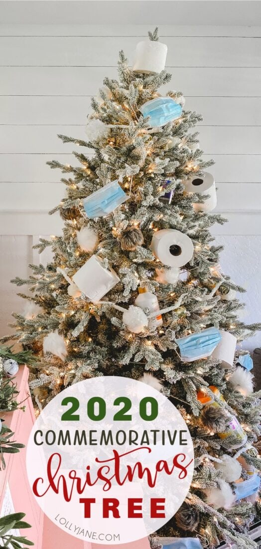 Just add a dumpster fire on top for the perfect 2020 Commemorative Christmas tree, perfect for a white elephant party... socially distanced, of course! ;) #2020 #2020tree #2020Christmas #ChristmasTree