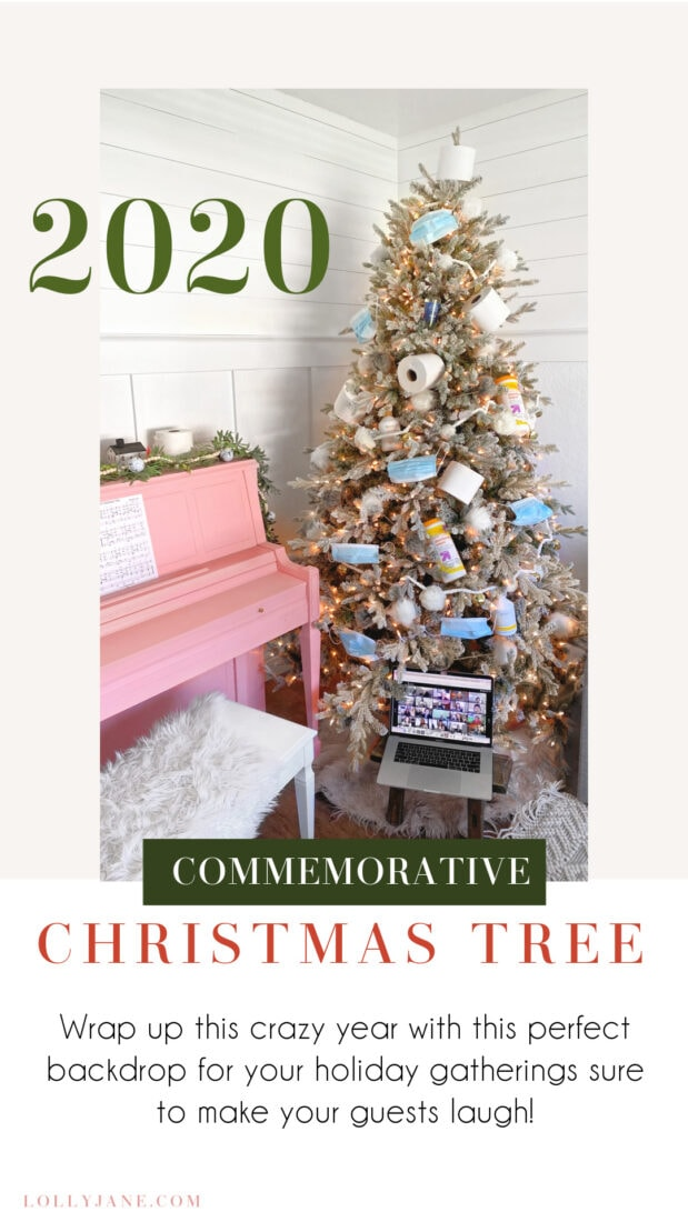 Add this 2020 Commemorative Christmas tree to your home for perfect for a white elephant party... socially distanced, of course! ;) #2020 #2020tree #2020Christmas #ChristmasTree