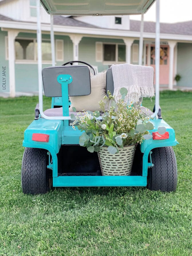 Transform your golf cart to a fun vibrant color with SPRAY PAINT! Get this look with step-by-step instructions! Golf cart makeover! #golfcart #golfcartmakeover #paint #paintingtips #painttips #spraypaint #spraypainting #spraypainttips #golfcart #golfcartmakeover #paint #paintingtips #painttips #spraypaint #spraypainting #spraypainttips