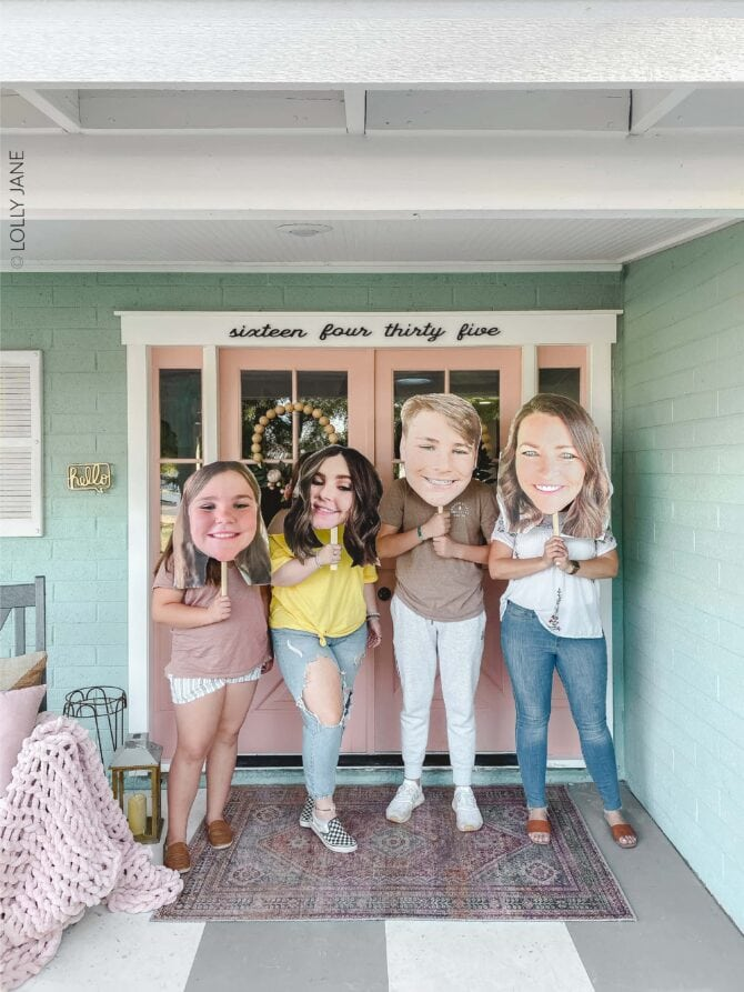 DIY Big Head Cutout! So fun for any event to help make your person feel extra special, no fancy tools needed and cost less than $10 each! #diy #diybighead #bigheadcutout #diycutout