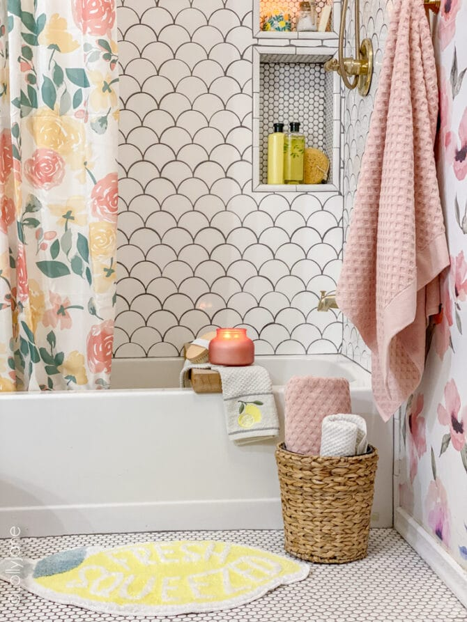 Another successful Walmart home run to complete the cutest look in this summer bathroom!