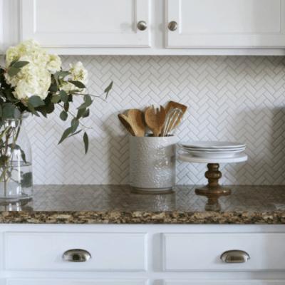 Herringbone Kitchen Backsplash