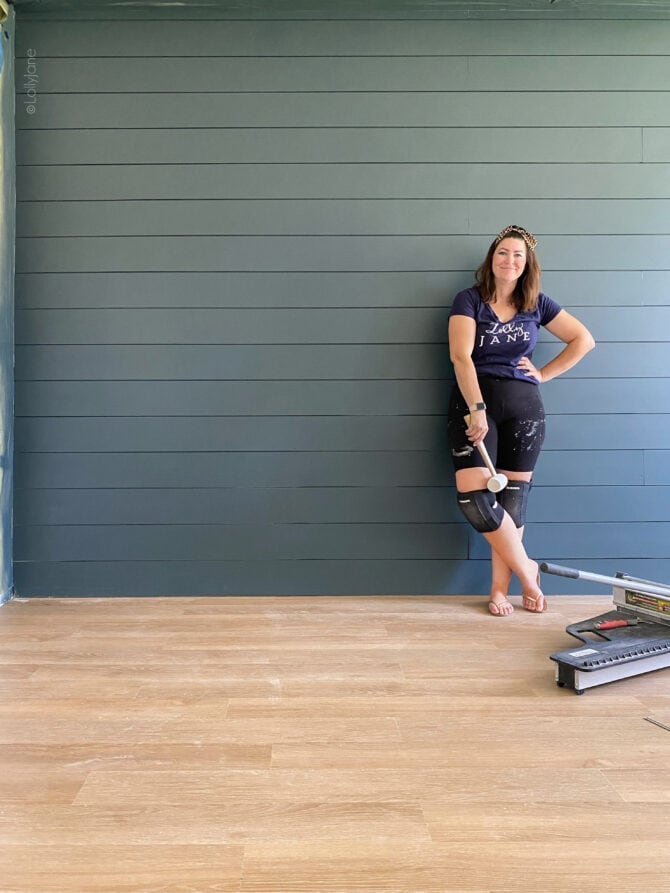 YOU CAN DO THIS! Installing LVP Flooring (luxury vinyl planks) is easier than you think, great for DIYers of all levels!