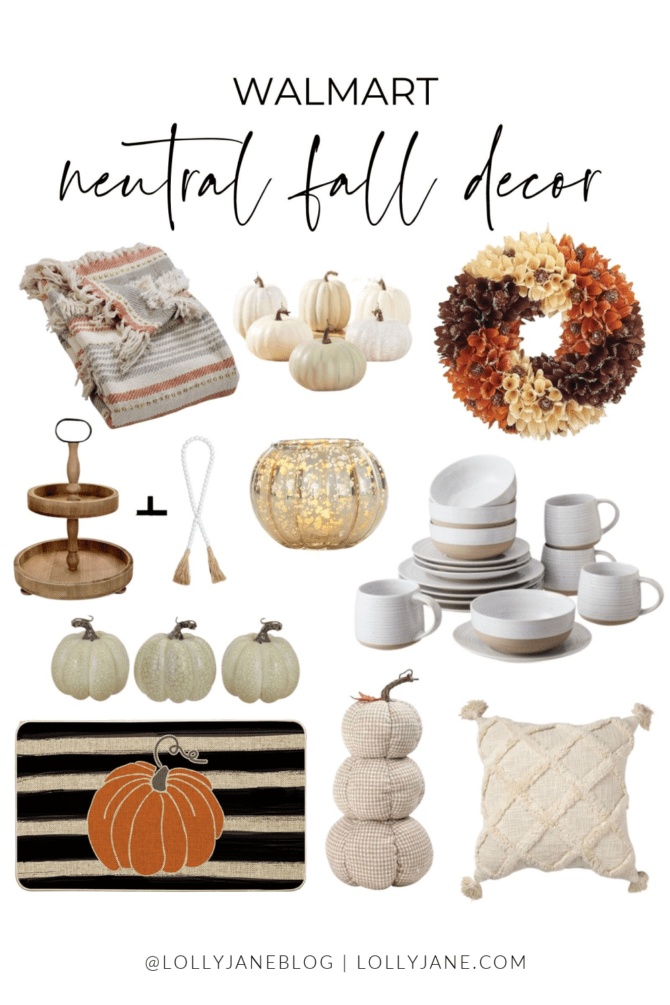 Over 30 Walmart fall decor finds to easily help you decorate your home for the fall and Thanksgiving seasons. You'll love these Walmart fall home decor finds!